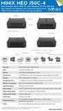 Leverbaar vanaf 2019 Minix NEO J50C-4 mini-PC_
