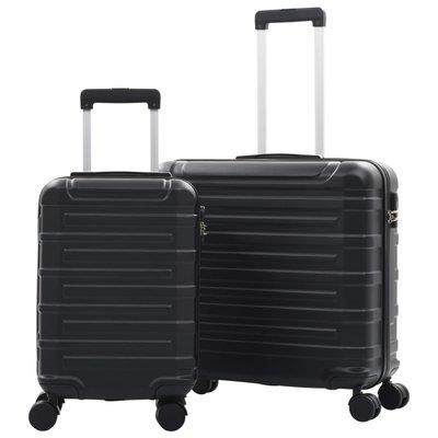 2-delige Harde kofferset ABS zwart