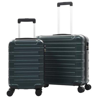 2-delige Harde kofferset ABS groen