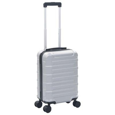 Harde koffer ABS zilverkleurig