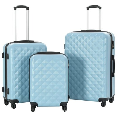 3-delige Harde kofferset ABS blauw