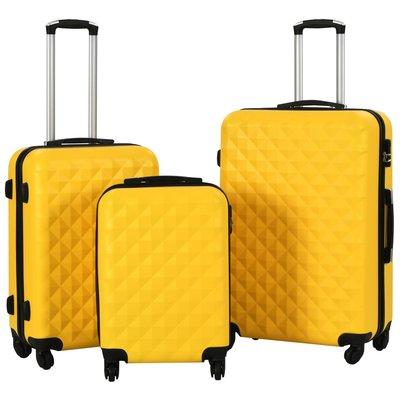 3-delige Harde kofferset ABS geel