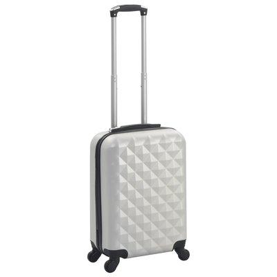 Harde koffer ABS helder zilverkleurig