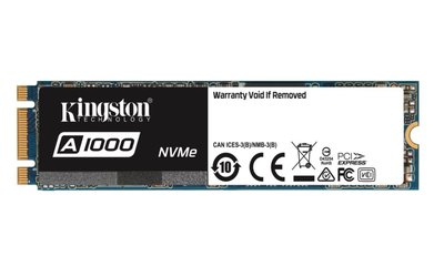 Kingston Technology A1000 internal solid state drive M.2 480 GB PCI Express 3D TLC NVMe