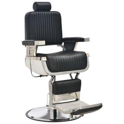 Kappersstoel 68x69x116 cm kunstleer zwart