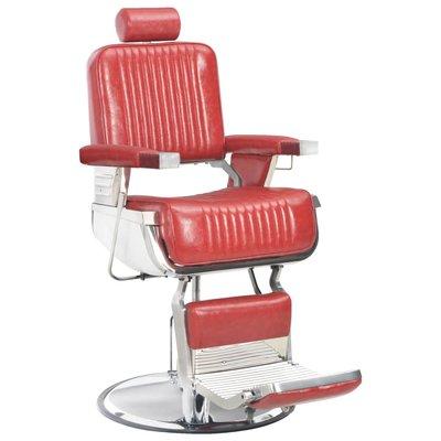 Kappersstoel 68x69x116 cm kunstleer rood