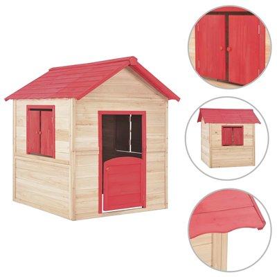 Kinderspeelhuis hout rood