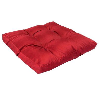 Palletkussen 58x58x10 cm polyester rood