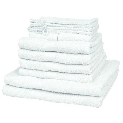 Handdoekenset 500 gsm katoen wit 12-delig