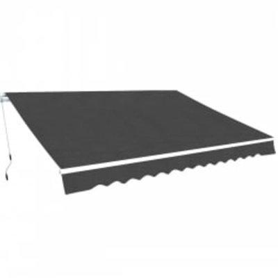 Luifel handmatig uitschuifbaar 600 cm antraciet