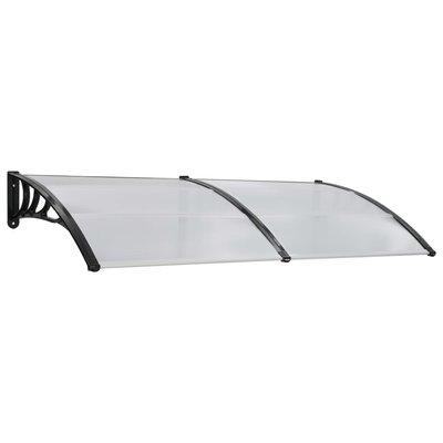 Deurluifel 200x100 cm kunststof wit