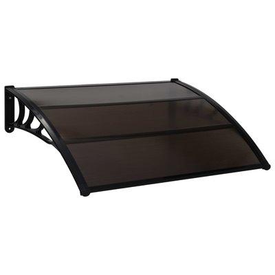 Deurluifel 150x100 cm kunststof zwart