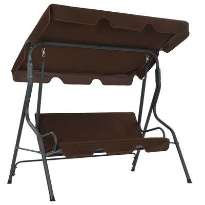 Tuinschommelstoel 170x110x153 cm koffiekleurig