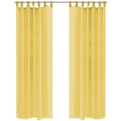 Gordijnen voile 140x175 cm geel 2 st