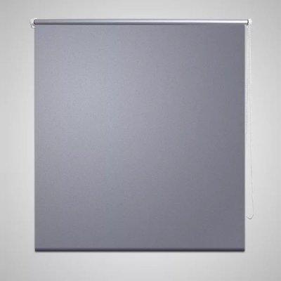 Rolgordijn verduisterend 80 x 230 cm grijs