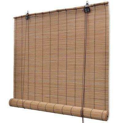 Rolgordijn 120x160 cm bamboe bruin