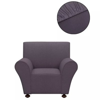 Stretch meubelhoes voor fauteuil antraciet polyester jersey