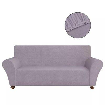 Stretch meubelhoes voor bank grijs polyester jersey