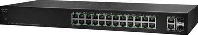 Cisco SF112-24 Unmanaged L2 Fast Ethernet (10/100) Zwart 1U