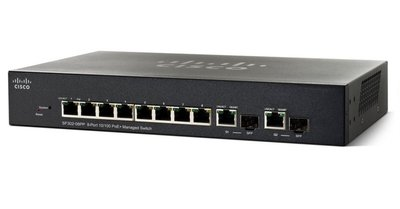 Cisco SF350-08 Managed L2/L3 Fast Ethernet (10/100) Zwart