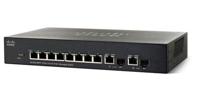 Cisco SF352-08MP Managed L2/L3 Fast Ethernet (10/100) Zwart Power over Ethernet (PoE)