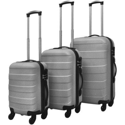 Harde kofferset 3-delig zilver