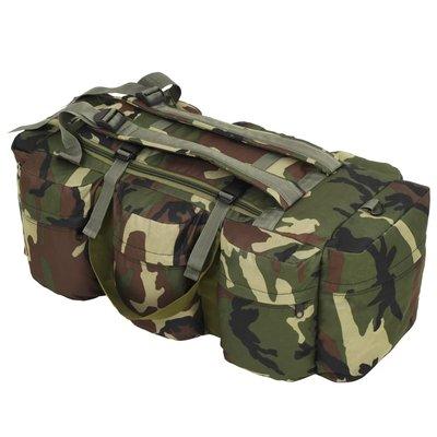 Plunjezak 3-in-1 legerstijl 120 L camouflage