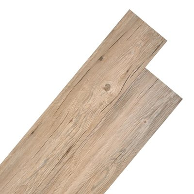 Vloerplanken 5,26 m² 2 mm PVC eiken bruin