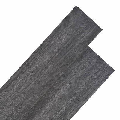 Vloerplanken 5,26 m² 2 mm PVC zwart en wit