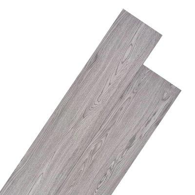 Vloerplanken 5,26 m² 2 mm PVC donkergrijs