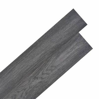 Vloerplanken zelfklevend 5,02 m² 2 mm PVC zwart en wit