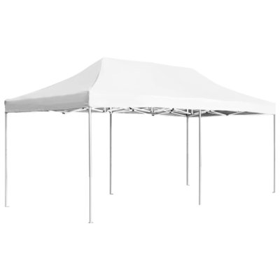 Partytent professioneel inklapbaar 6x3 m aluminium wit