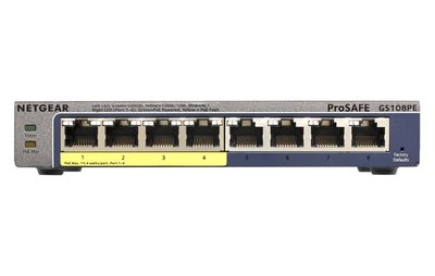 Netgear ProSAFE Unmanaged Plus Switch - GS108PE - 8 Power over Ethernet poorten