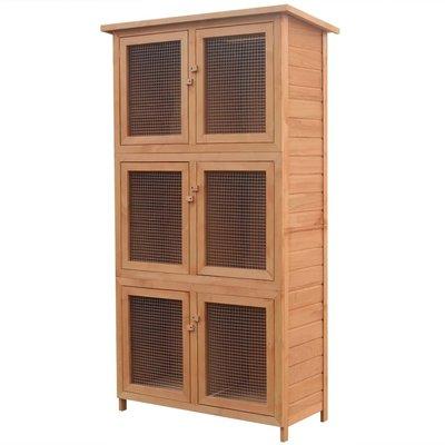 Dierenhok 6 kamers hout