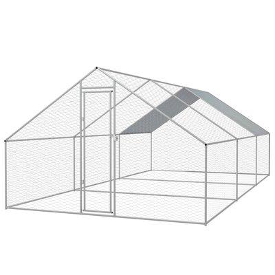 Buitenhok voor kippen 3x6x2 m gegalvaniseerd staal
