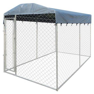 Hondenkennel voor buiten met dak 4x2 m