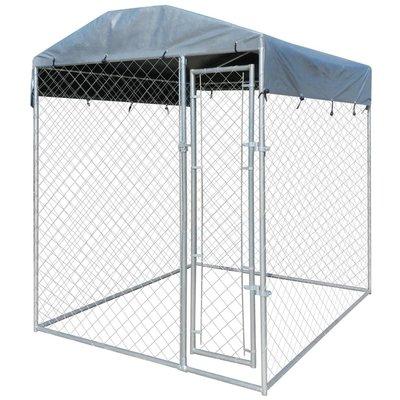 Hondenkennel voor buiten met dak 2x2 m