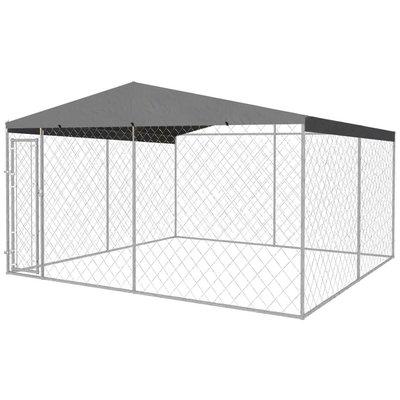 Hondenkennel met dak voor buiten 4x4 m