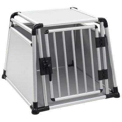 Hondentransportbox L aluminium