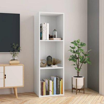 Boekenkast/Tv-meubel 36x30x114 cm spaanplaat wit
