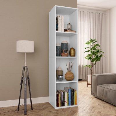 Boekenkast/Tv-meubel 36x30x143 cm spaanplaat wit