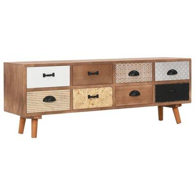 Tv-meubel met 8 lades 120x30x40 cm massief grenenhout