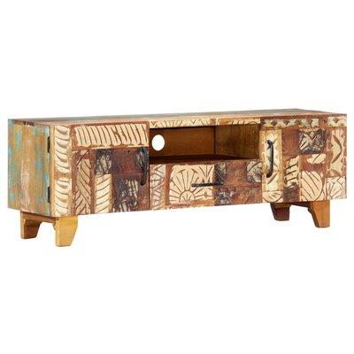 Tv-meubel handgesneden 120x30x40 cm massief gerecycled hout