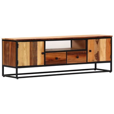Tv-meubel 120x30x40 cm massief gerecycled hout en staal