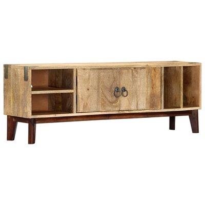 Tv-meubel 115x30x46 cm massief ruw mangohout