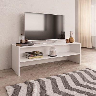 Tv-meubel 120x40x40 cm spaanplaat wit
