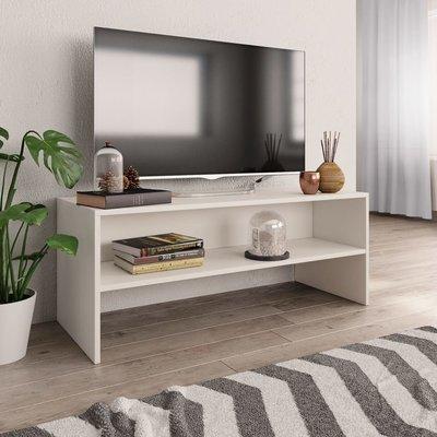 Tv-meubel 100x40x40 cm spaanplaat wit