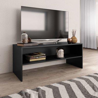 Tv-meubel 100x40x40 cm spaanplaat zwart