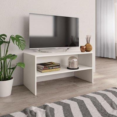 Tv-meubel 80x40x40 cm spaanplaat wit