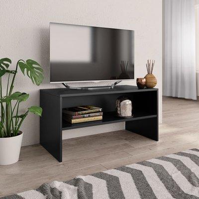 Tv-meubel 80x40x40 cm spaanplaat zwart
